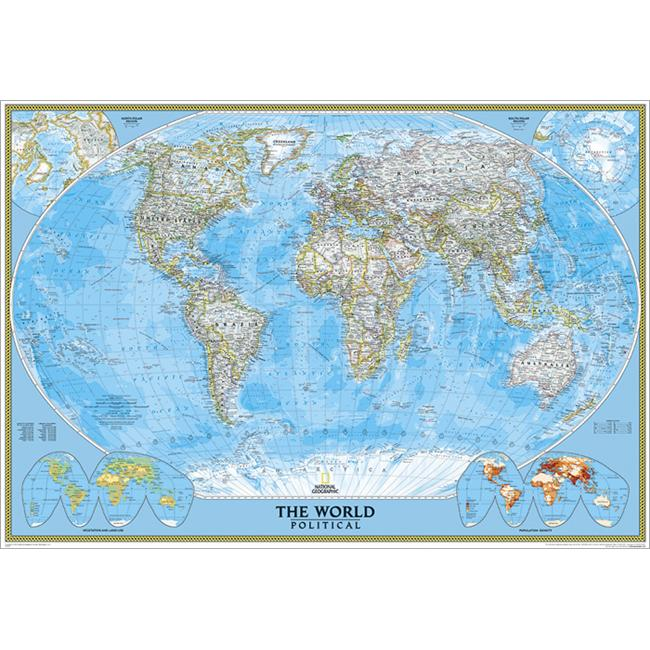 National Geographic RE00622008 World Classic - Enlarged Map