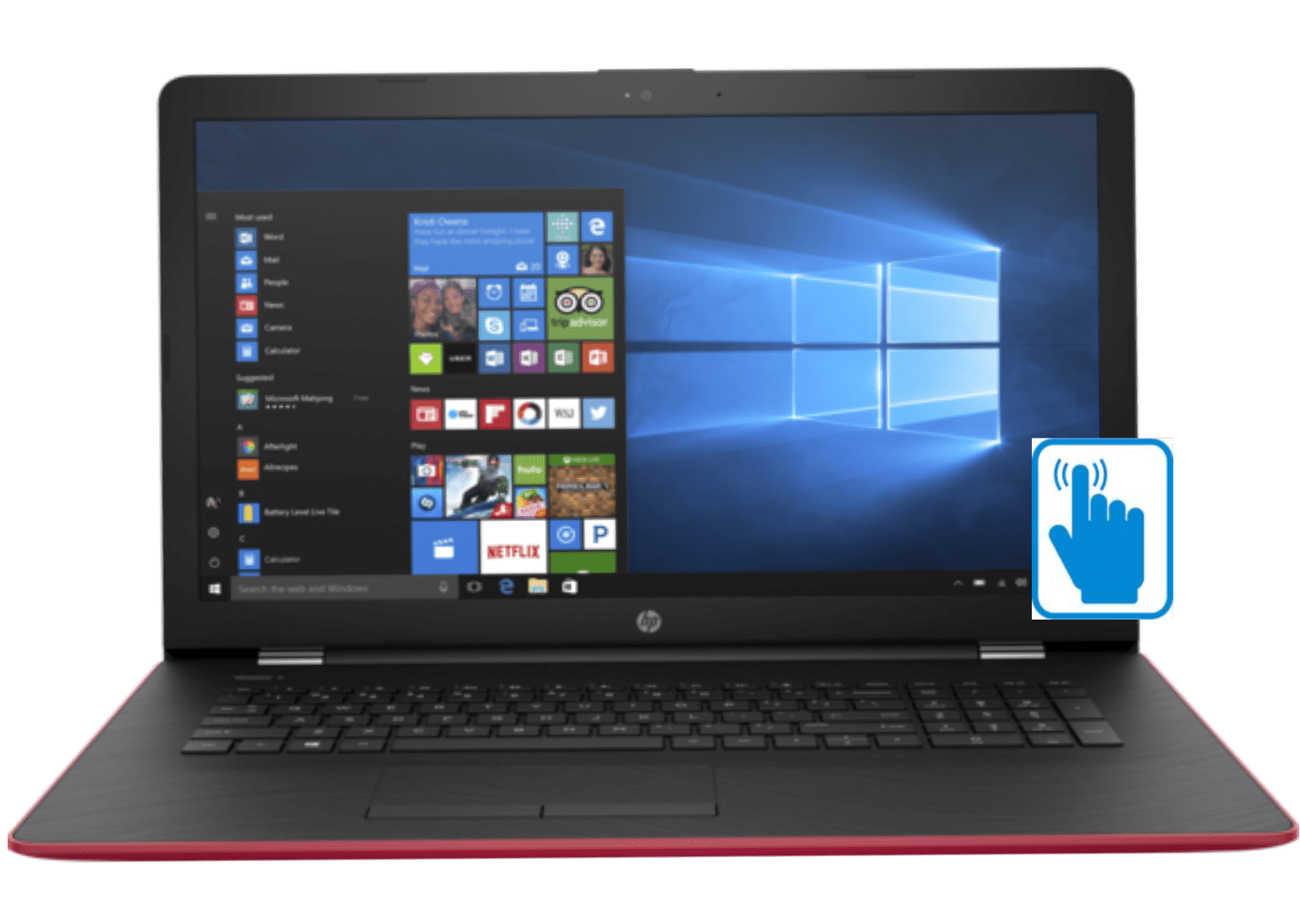 """HP 17z Laptop 17.3"""" with HD Touchscreen Laptop PC (AMD A6 Processor, AMD Radeon R4 Graphics, 8GB RAM, 1TB... by MichaelElectronics2"""