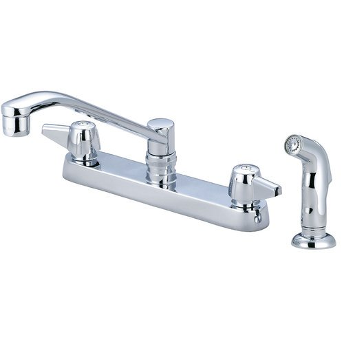 Central Brass Double Handle Kitchen Faucet With Side Spray Walmart Com Walmart Com