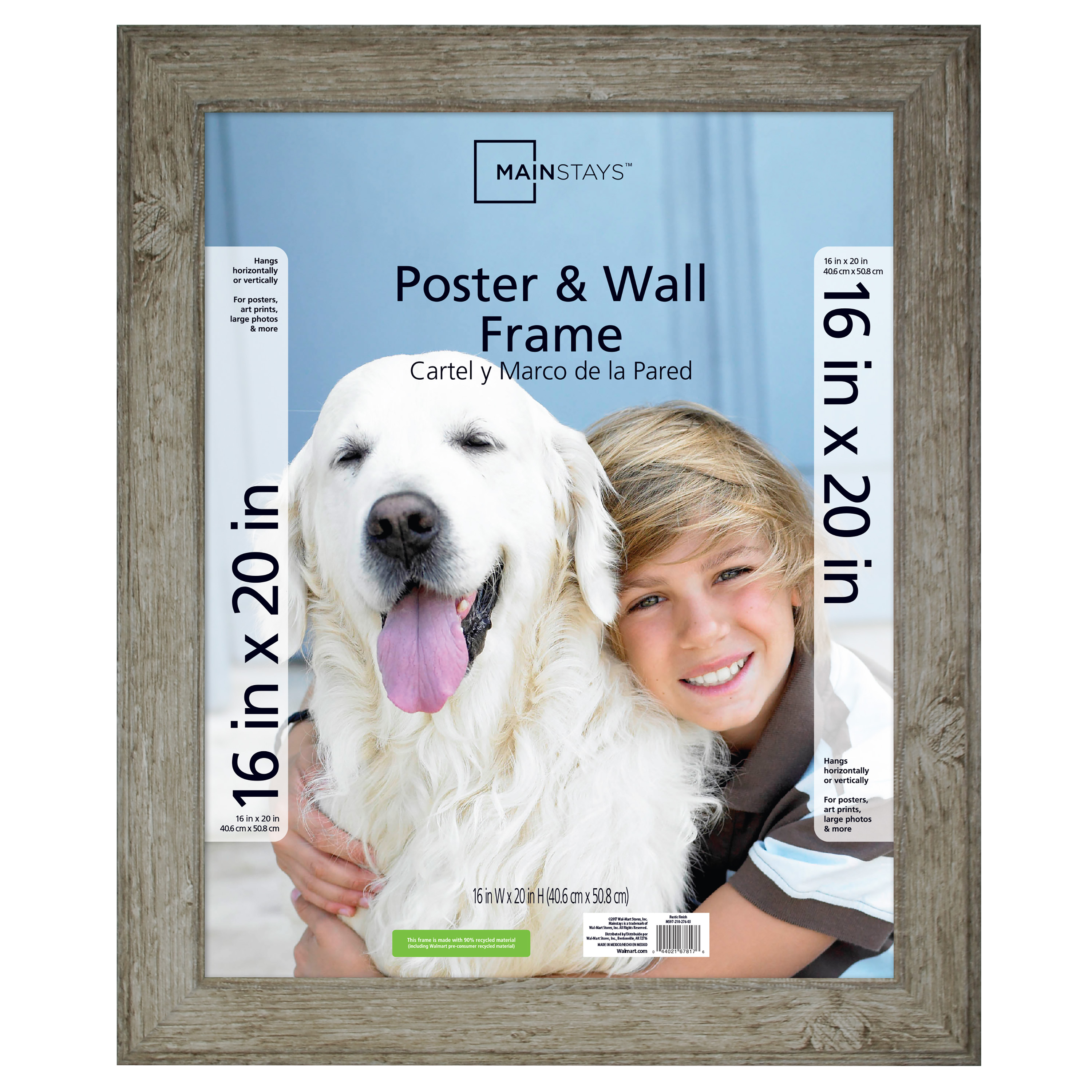 Mainstays 16X20 Rustic Woodgrain Poster and Picture Frame