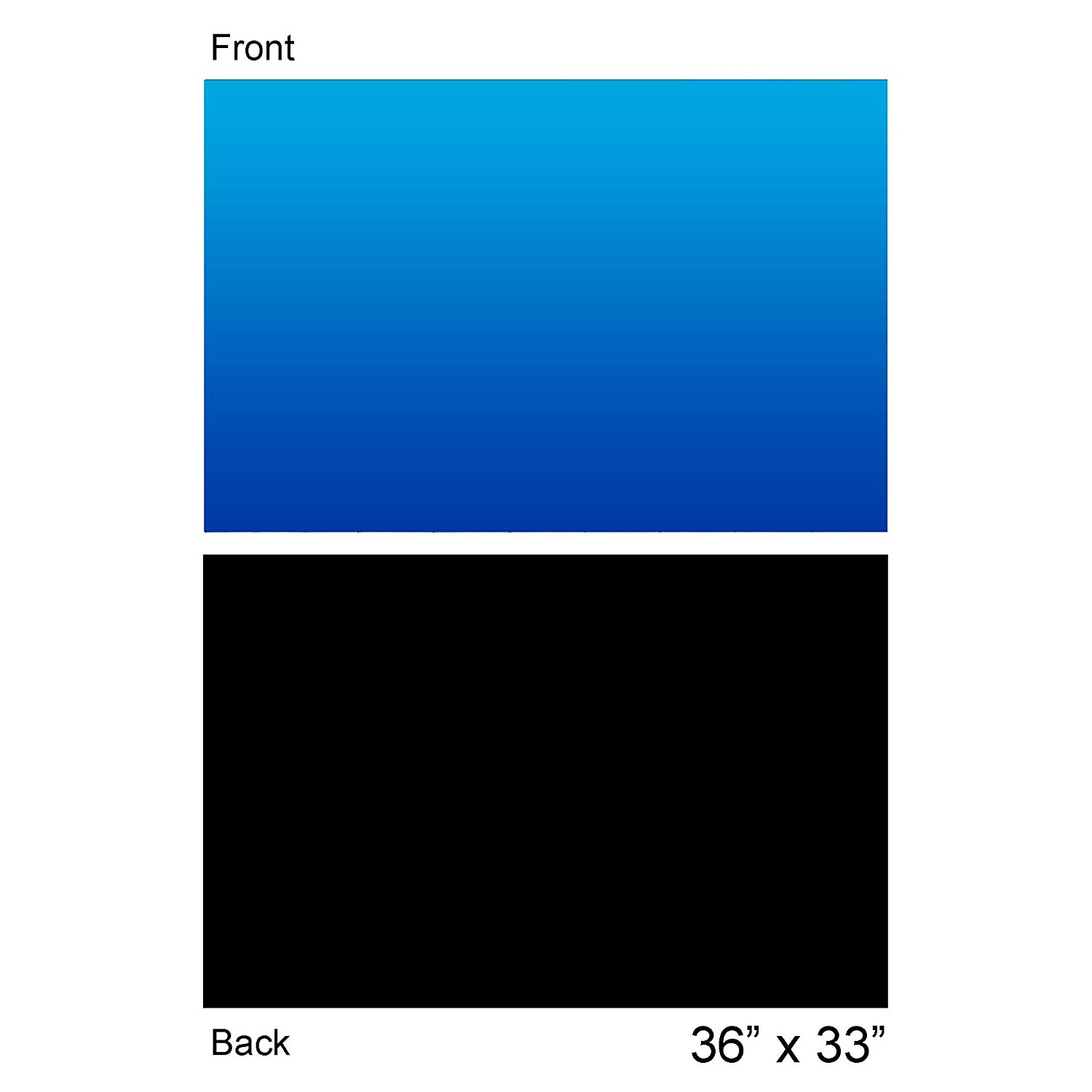 "Aquarium Background Ocean Blue Black Double sides 36 by 24 Inch (36""X24""), Double sided- One side... by"
