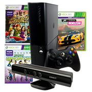 Refurbished Xbox 360 E 4gb Console Forza Horizons, Kinect Sports, and Kinect Adventures