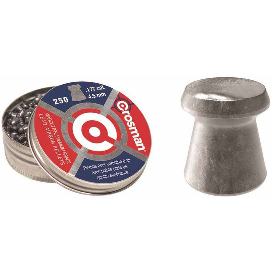Crosman Wadcutter .177 Caliber 7.4gr Airgun Pellets, 250ct