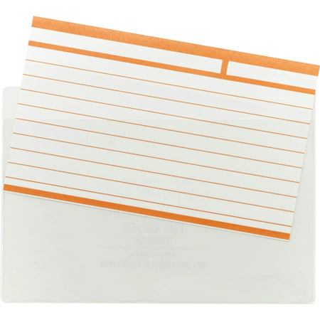 Smead Self-Adhesive Poly Pocket, Index Card Size (5-5/16