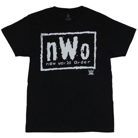 WWE NWO Mens T-Shirt - Classic N.W.O. New World Order White Box Logo Image New World Order T-shirt