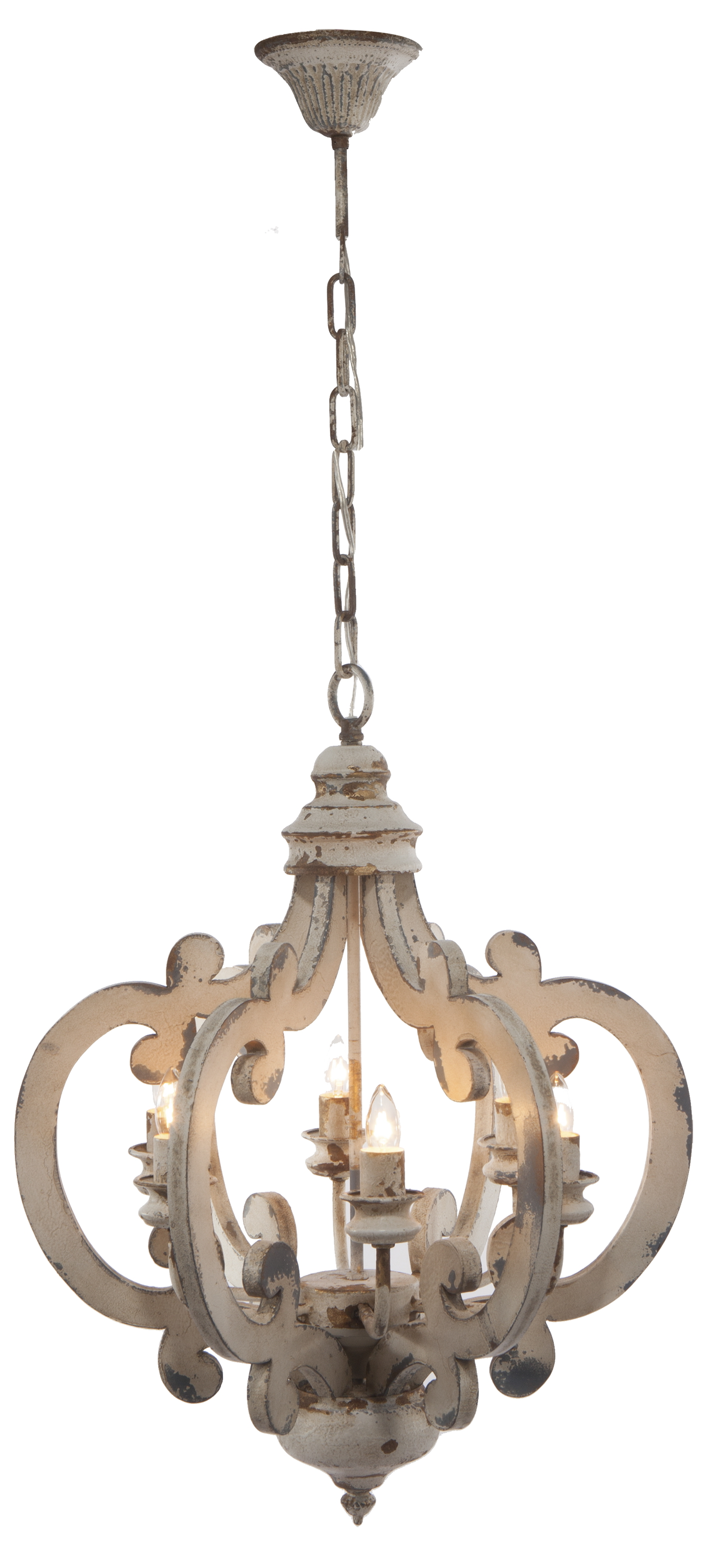 A&B Home Wood And Metal Chandelier by A&B Home