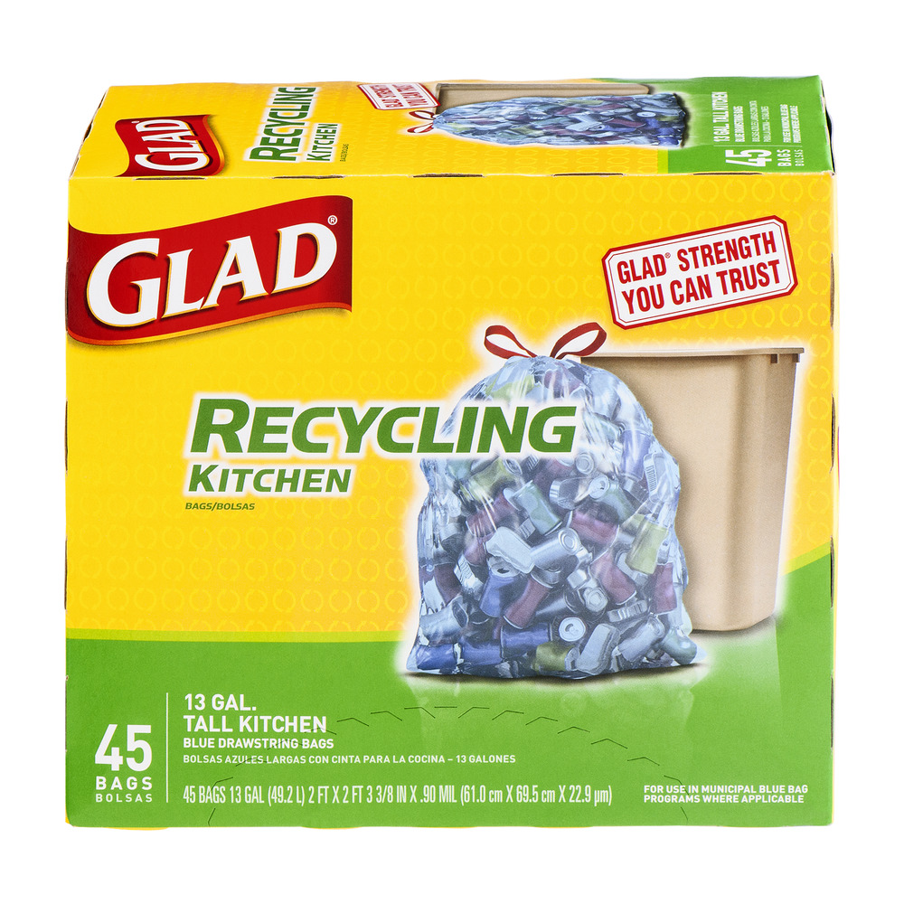 Glad Municipal Blue Recycling Trash Bag