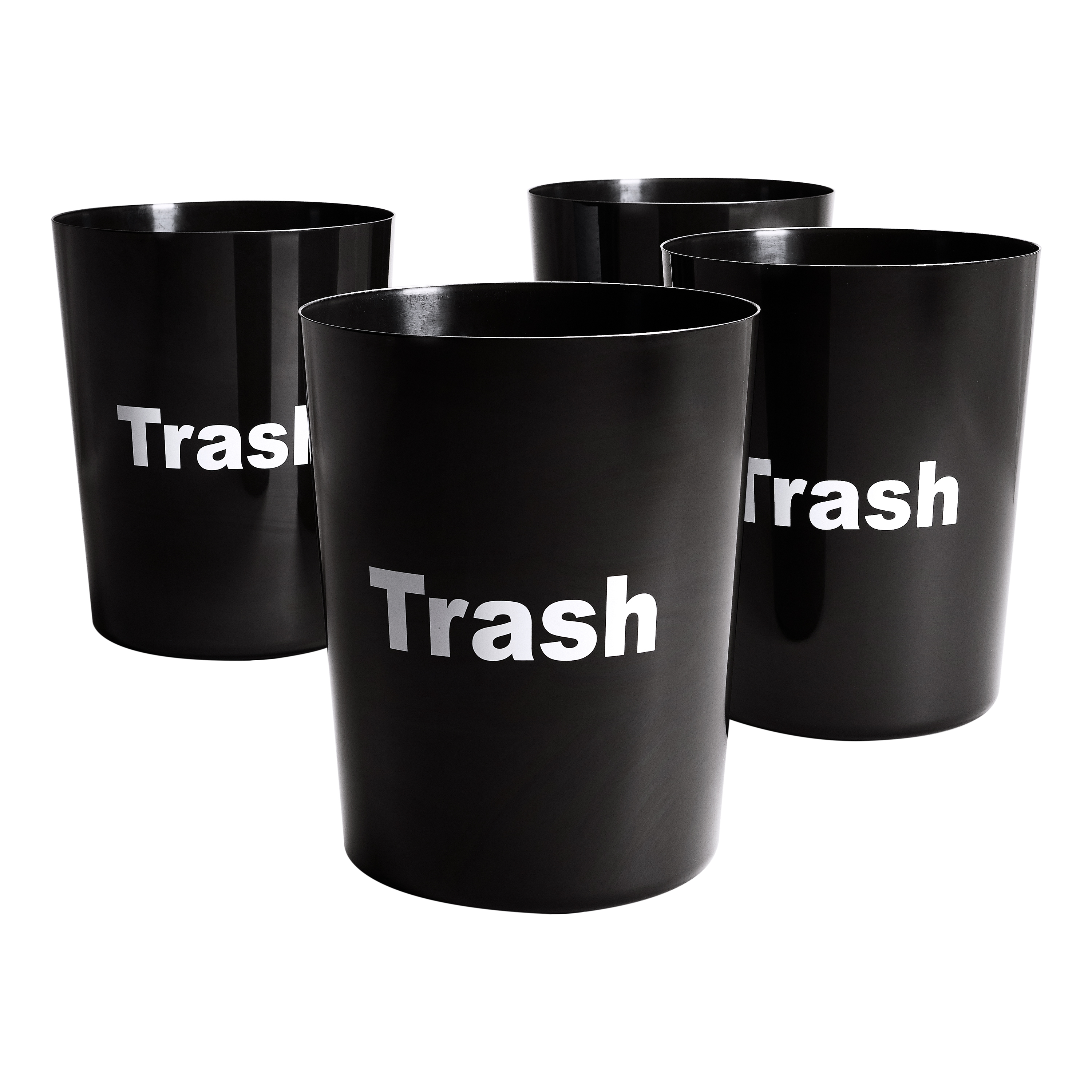 Mainstays Sentiment Waste Trash Can, 5 Gallon, 4 pack