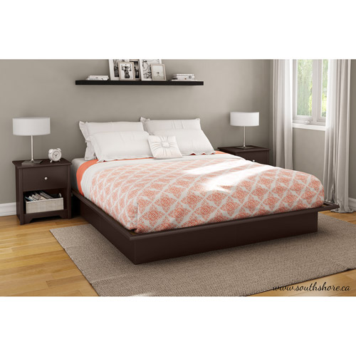 South Shore SoHo King Platform Bed with Molding, 78'', Chocolate