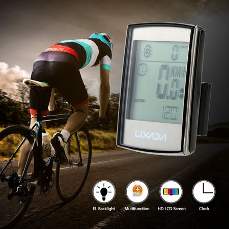 Lixada Multifunctional 3-in-1 Wireless LCD Bicycle Cycling Computer with Cadence Heart Rate Monitor Chest Strap