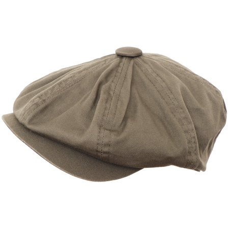 Broner 8/4 Apple Jack Cap 100% Washed Cotton Newsboy Hat Gatsby Cabbie - Black Cabbie Hat