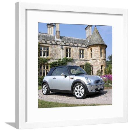 2004 Mini Cooper Convertible Framed Print Wall Art Used Mini Cooper Convertible