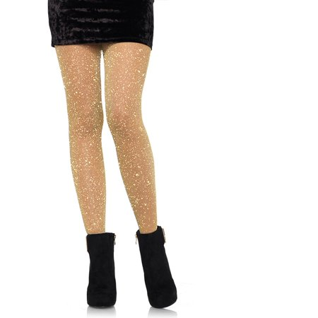 Leg Avenue Lurex Tights - Silver Metallic Tights