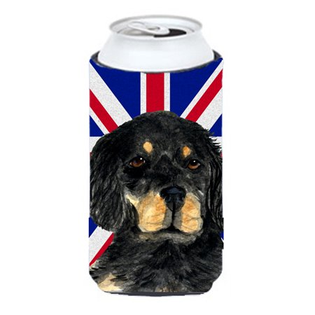 Gordon Setter with English Union Jack British Flag Tall Boy Beverage Insulator Hugger SS4957TBC