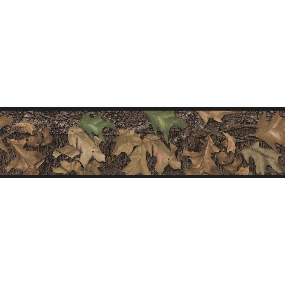 15' MOSSY OAK Leaf Hunting CAMO Wall Border Camouflage Woods Wallpaper Decor