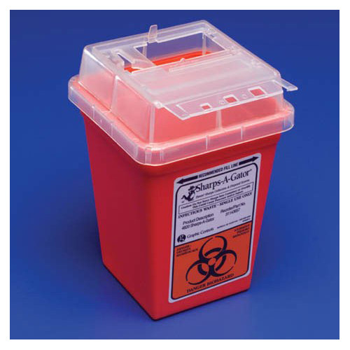 Kendall Healthcare Products 2-Gal Sharps-A-Gator Counter Unit (Set of 2)