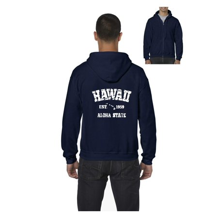 Hawaii 1959 Men Full-Zip Hooded Sweatshirt