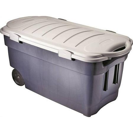 Roughneck FG246300DIM Jumbo Wheeled Storage Tote Box, 45 gal, 42.3 in L x 21.3 in W x 20.6 in H