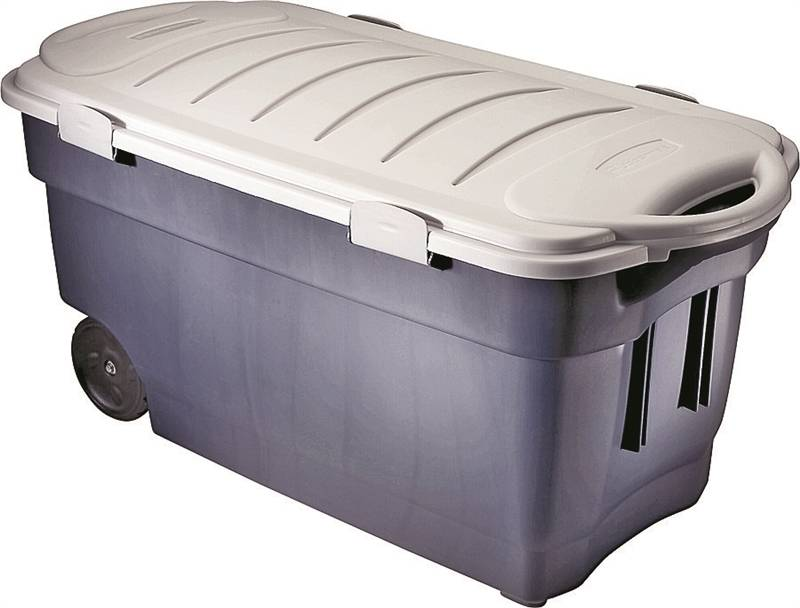 Roughneck FG246300DIM Jumbo Wheeled Storage Tote Box, 45 Gal, 42.3 In L X  21.3