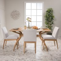 Noble House Caruso Oak Finish 5 Piece Dining Set