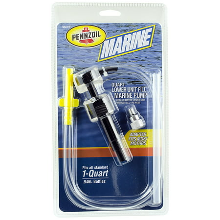 Pennzoil 36672 Marine Boat Lower Unit Gear Lube Fill Pump (Quart)
