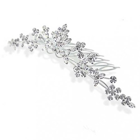 Leaves Flowers Wedding Crown Hair Accessories For Brides Women Crystal Bridal Hair Comb For Party Prom Pageant Birthday - Bride Crown