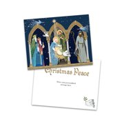 Personalized Manger Scene Folded Holiday Greeting Card