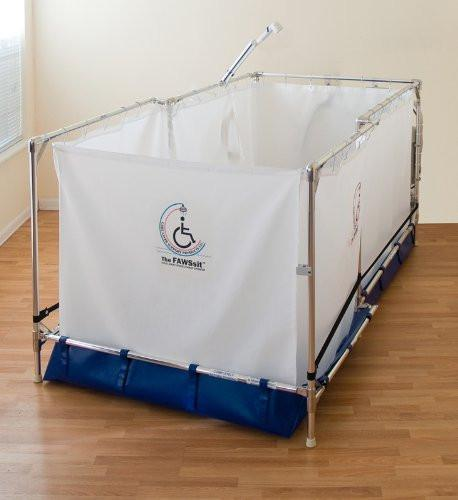 Reclining Portable Wheelchair Shower System