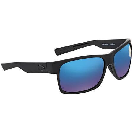 Costa Del Mar Half Moon Blue Mirror 580P Polarized Rectangular Men's Sunglasses HFM 155 OBMP (580p Costa Del Mar)