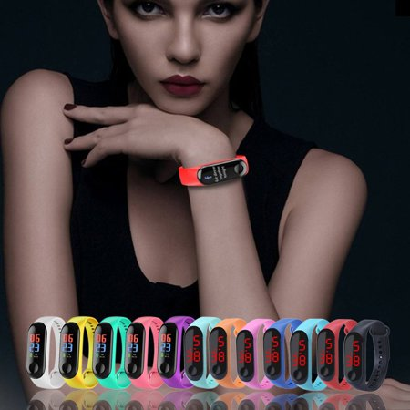 Bracelet Watch Band Digital Watch Red LED Watches Promotion Gift WristWatch - image 4 de 6