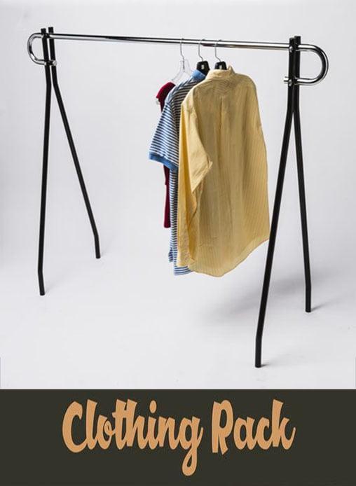 "62/'/'L X 19/""W X 64/""H Single Bar Black Beauty Clothing Rack Display Retail Fixture"