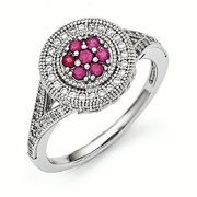 Sterling Silver & CZ Circle Ring