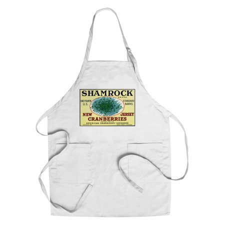 Shamrock Brand Cranberry Label (Cotton/Polyester Chef's Apron)