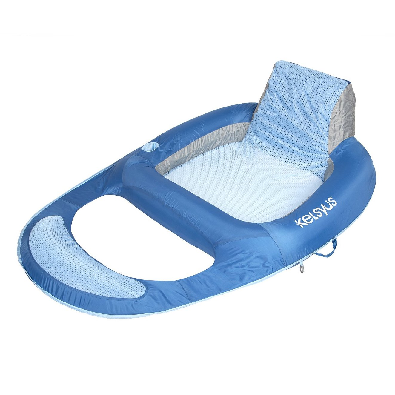 Kelsyus Floating Pool Lounger Inflatable Chair W/ Cup Holder, Blue | 80014