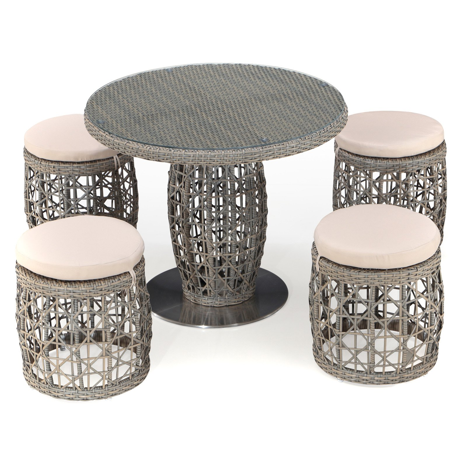 Ceets Basson 5 Piece Wicker Patio Dining Room Set by Ceets