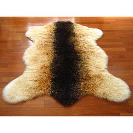 Walk On Me Rugs Brown Orange White Gy Goat Pelt Faux Fur Rug