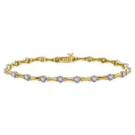 Diamond Tennis Bracelet in 10K Yellow Gold (1/2 cttw)