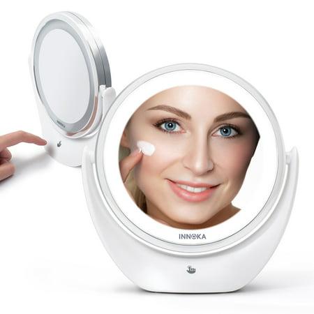 Innoka Led Makeup Mirror Adjustable, Telescoping 5x Magnified Makeup Mirror