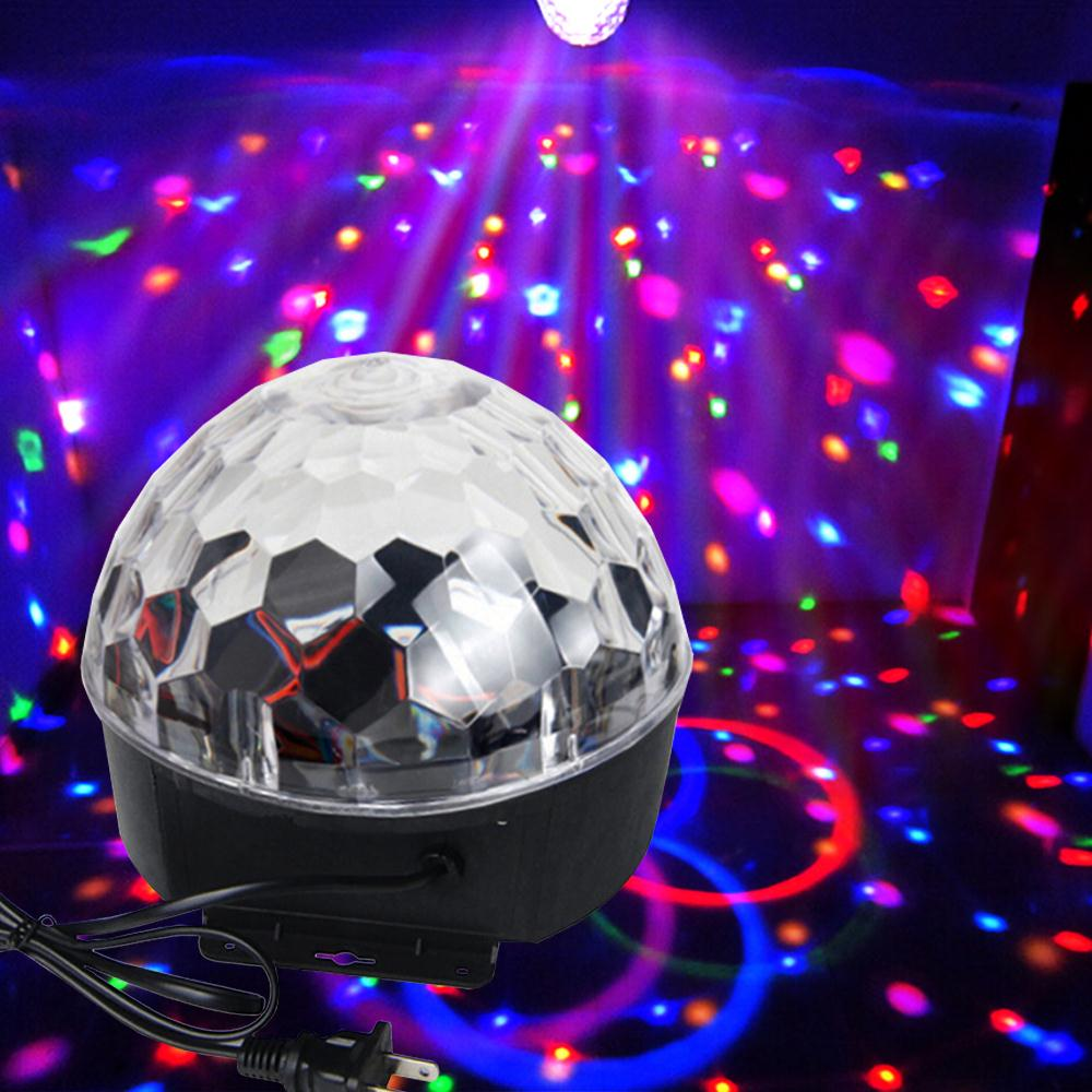 6Colors LED Crystal Magic Ball Effect Light Disco ball DJ Stage Party laser led Sound activated disco light cheap led... by OUTAD