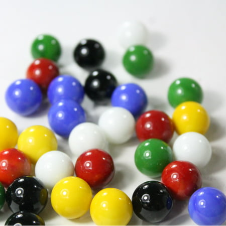 Mega Game Replacment Marbles 14mm -Solid Glass-60 Pieces - Chinese Checkers, Crafting (Multi) ()
