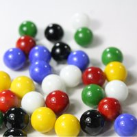 Mega Game Replacment Marbles 14mm -Solid Glass-60 Pieces - Chinese Checkers, Crafting (Multi)