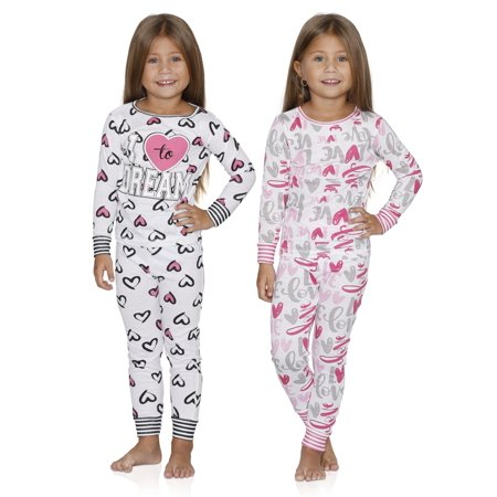 2e794aafa Sultan Industries - Prestigez Girls 4 Piece Fancy Cotton Pajamas Sets