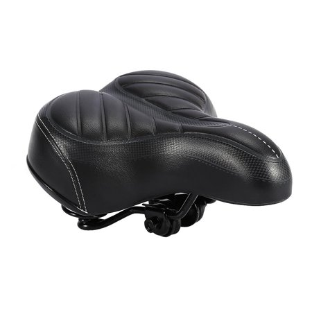 Dilwe Oversize Comfort Bicycle Saddle with Safety Reflective Tape Soft Cushion Electric car super soft cushion Mountain Road Bicycle Cruiser Sporty Soft Pad Saddle