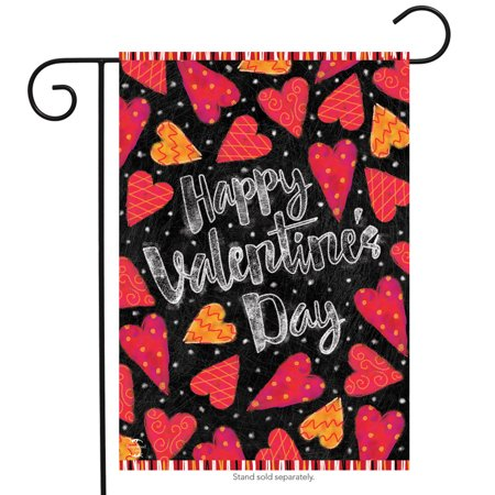 - valentine garden flag hearts valentine's day love 12.5