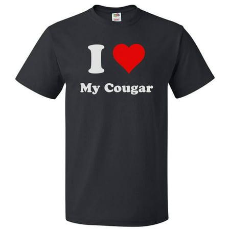 I Love My Cougar T shirt I Heart My Cougar Tee Gift - Cougar Hunter Shirt