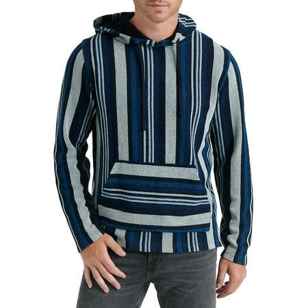 Striped Pullover Hoodie Cricket Mens Hoodie