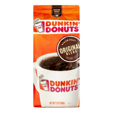 Dunkin' Donuts Medium Roast Ground Coffee, Original Blend, 12 Oz ()