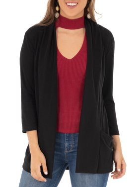 f8afa7880 Product Image Women s 3 4 Sleeve Draped Jersey Cardigan