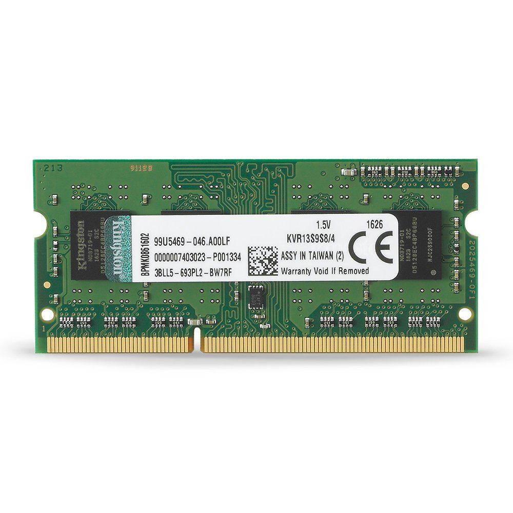 Kingston Value RAM 4GB 1333MHz PC3-10600 DDR3 Non-ECC CL9 SODIMM SR X8 Notebook Memory (KVR13S9S8/4), USA, Brand Kingston Technology