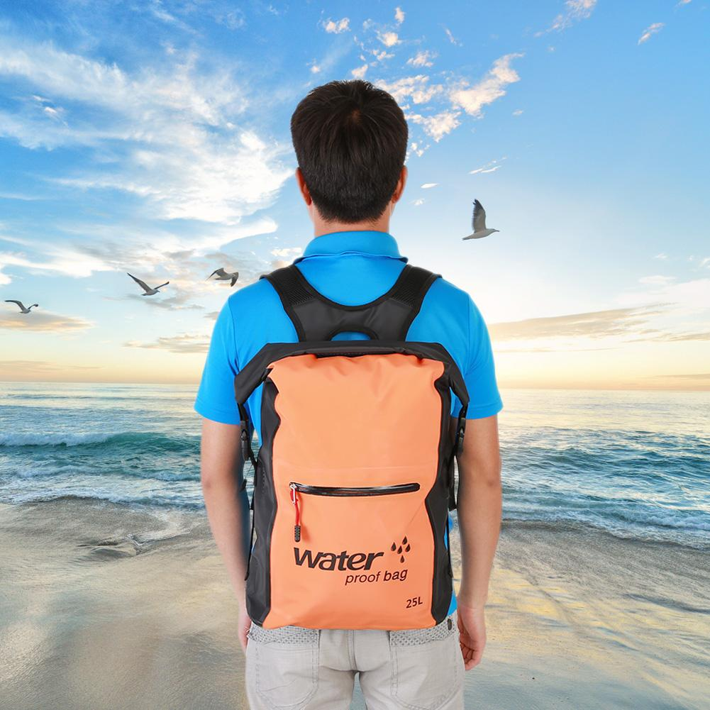 25L Outdoor Folding Waterproof Dry Bag Backpack for Canoe Kayak Rafting Camping, Dry Bag, Dry Backpack